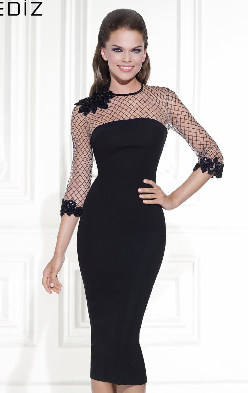 Tarik ediz black zipper dress