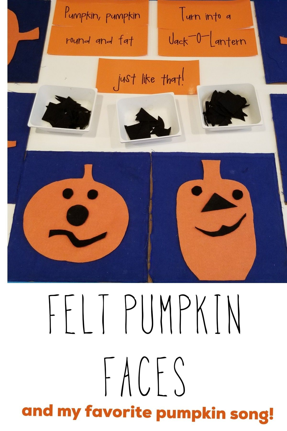 I Ve Been Using These Felt Pumpkins In Preschool For Years