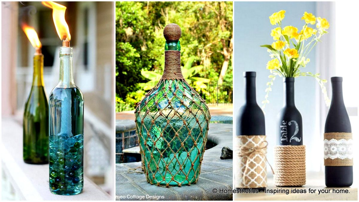 Wine Bottle Decor 15 Useful Upcycling Projects That Will Inspire You Diy Tips