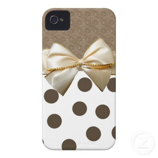 Vintage Large Brown Polka Dots iPhone 4 Covers