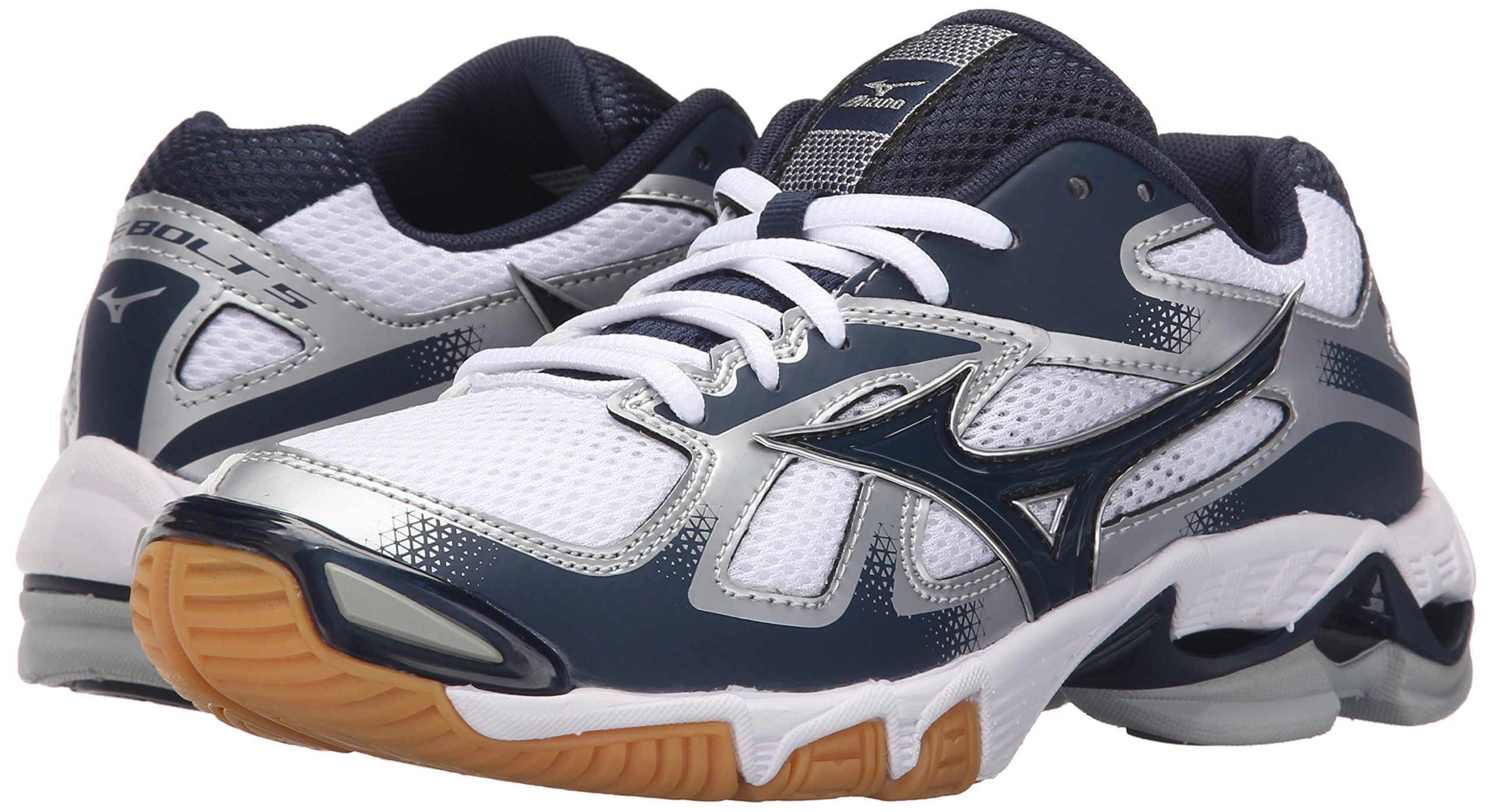 Mizuno Womens Wave Bolt 5w Volleyball Shoe White Navy 6 5 Find Out More About The Great Product At The Im Volleyball Shoes Womens Athletic Shoes Mizuno Shoes