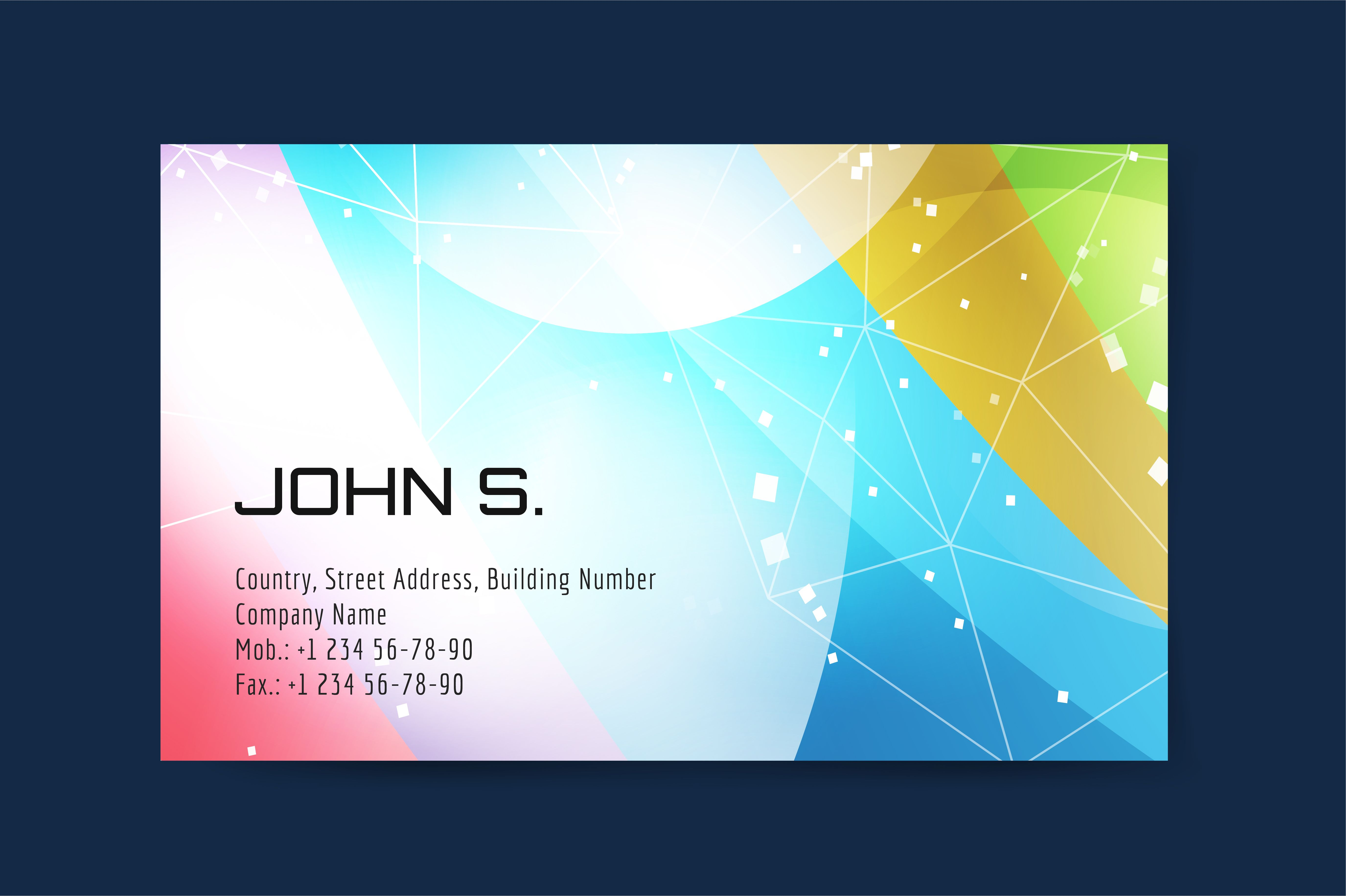 Business card template design by Vector-Stock on Creative Market ...
