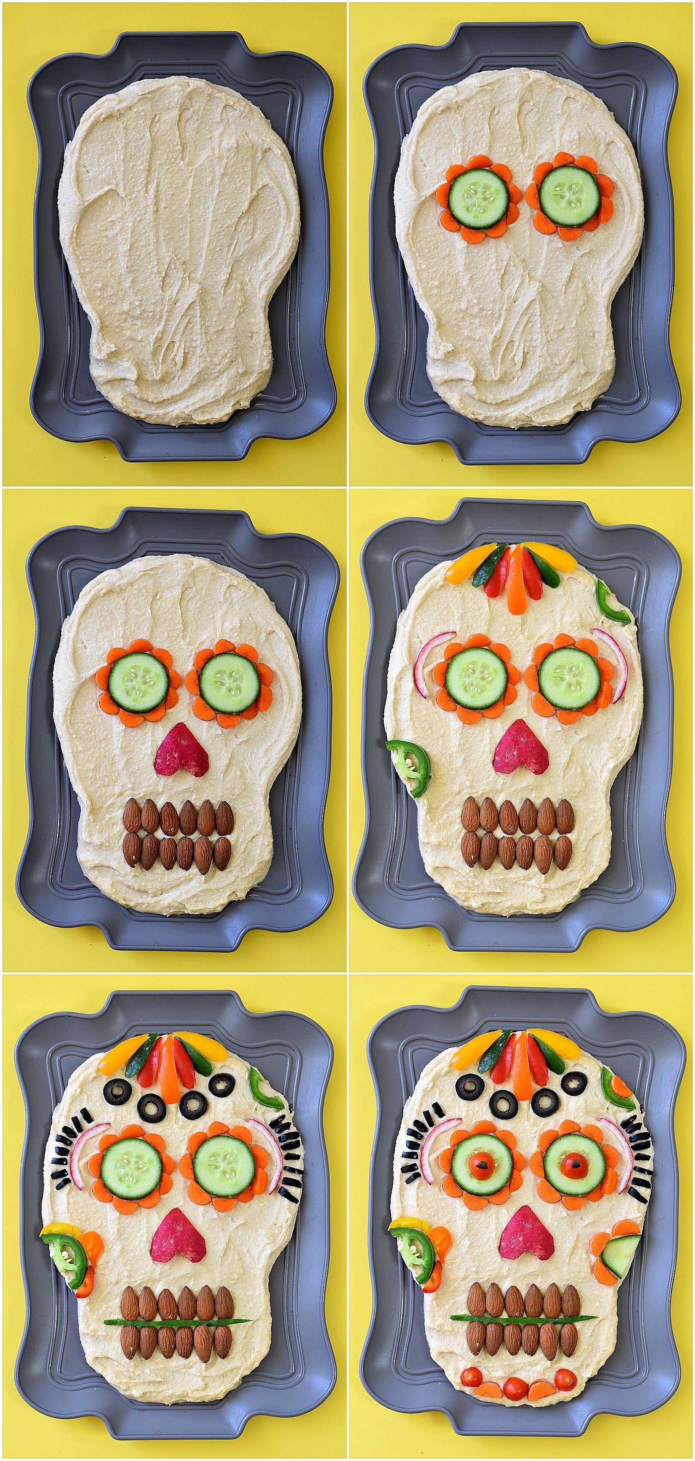 Dia de los Muertos Hummus Dip Recipe Halloween food