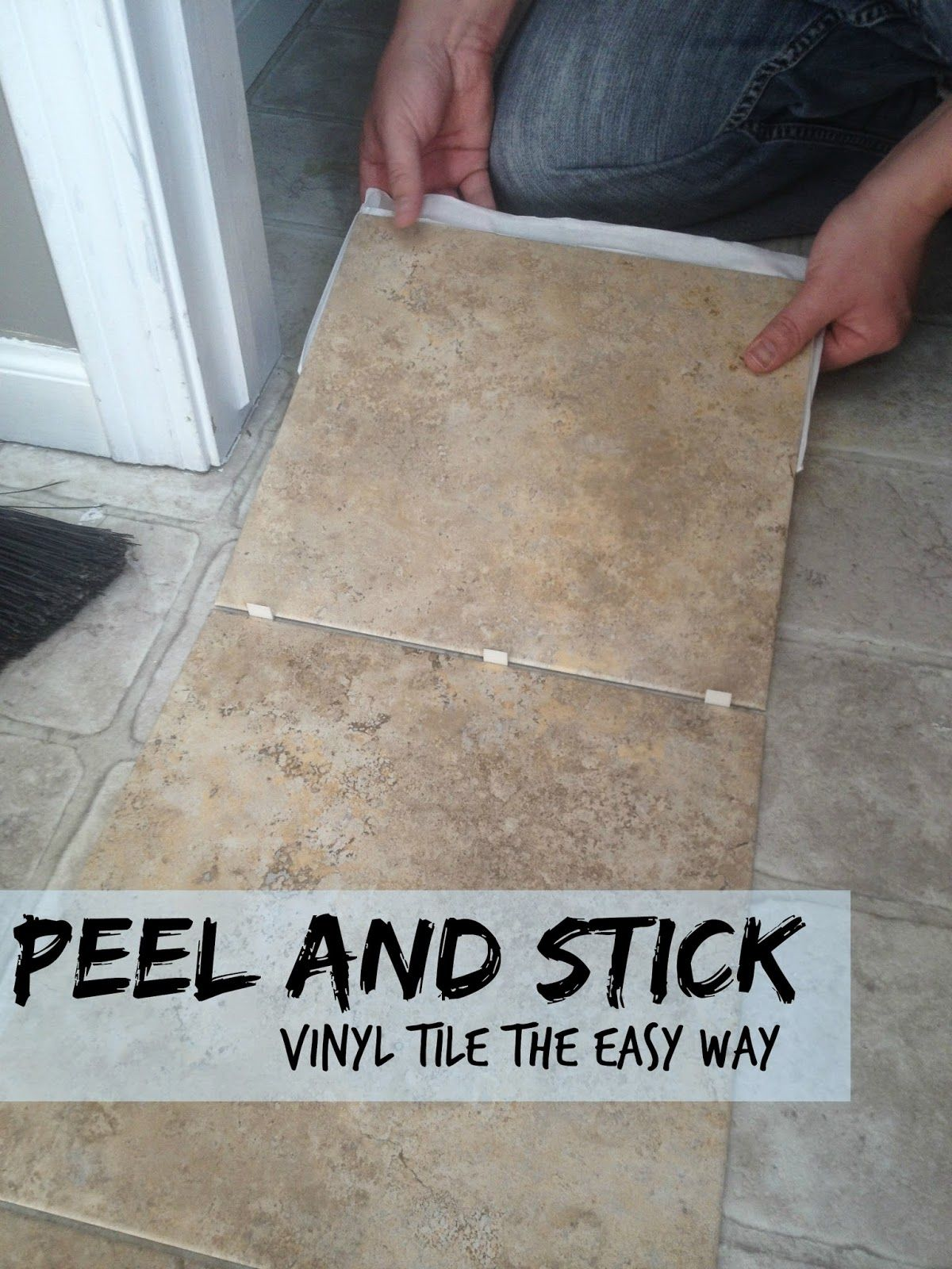 Peel and Stick Vinyl Tile | Tile floor diy. Stick on vinyl tiles