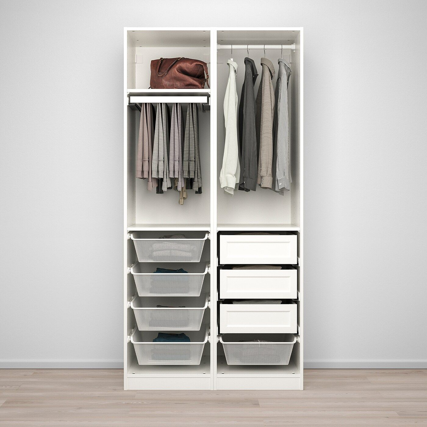IKEA PAX / GRIMO cabinet combination – white / white