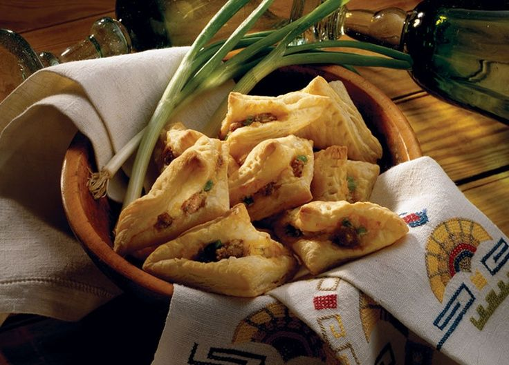 Puffed Pastry Sausage Turnovers made with Johnsonville Italian Sausage. Perfect appetizer for your holiday party!