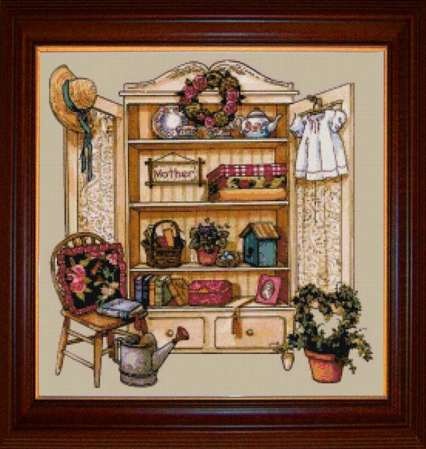 Counted Cross Stitch Afghan Patterns Mothers Cupboard Counted Cross Stitch Pattern A Lovely Pattern Of A Kreuzstich Kreuze Stich