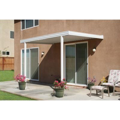 Metals Building Products 12 Ft. X 8 Ft. Aluminum Attached Solid Patio Cover  With