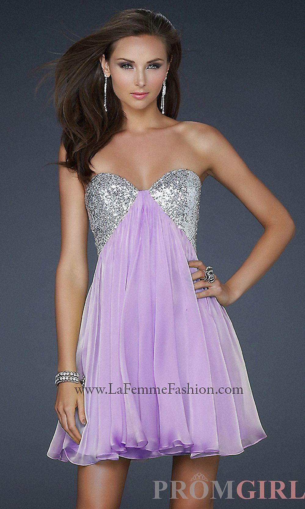 La Femme Short Strapless Prom Dress LF-17649 - promgirl.com ...