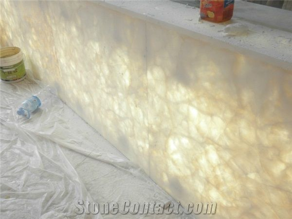 Onyx Stone Slabs : Translucent ice onyx stone slabs iran bathrooms