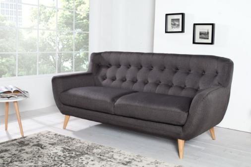 Couch design klassiker  Retro Designklassiker 3er Sofa SCANDINAVIA MEISTERSTÜCK anthrazit ...