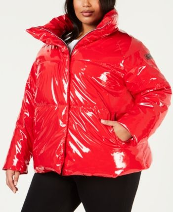 d244a900a5 Plus Size Shiny Puffer Jacket | Products in 2019 | Puffer jackets ...