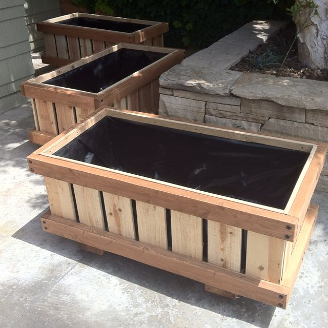 2 X 4 Rolling Raised Bed Planters On Wheels Cedar Boxes 400 x 300