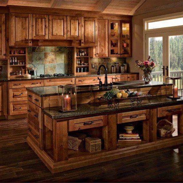 My Dream Kitchen Fashionandstylepolice: My Dream Kitchen. I Love The Dark Counters, The Dark Wood