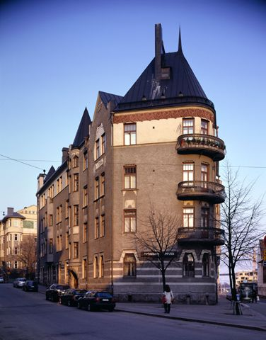 Helsinki, U. Nyström - Petrelius - Penttilä: As Oy Kataja, Kruunuvuorenkatu 7, 1901-02. Foto: Kari Hakli.