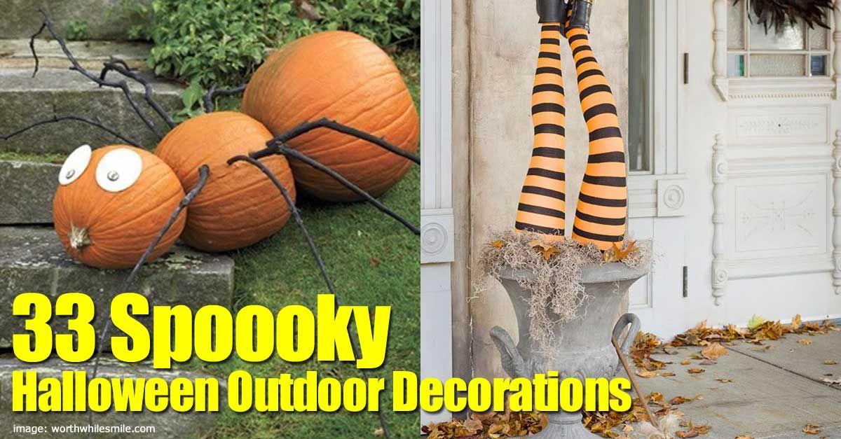 33 Spoooky Halloween Outdoor Decorations Spooky halloween