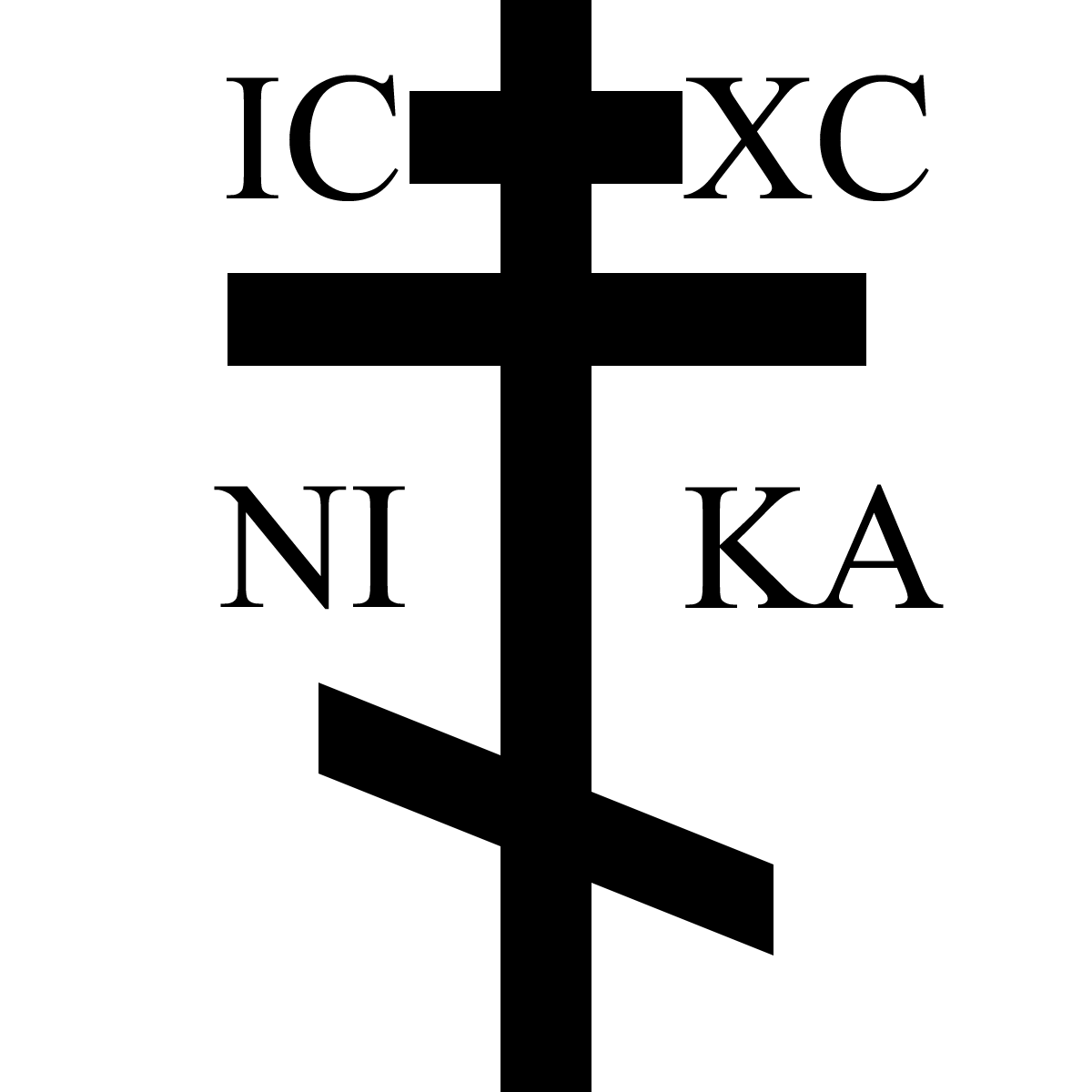 Russian Orthodox Cross Jesus Christ Is Victorious Grace