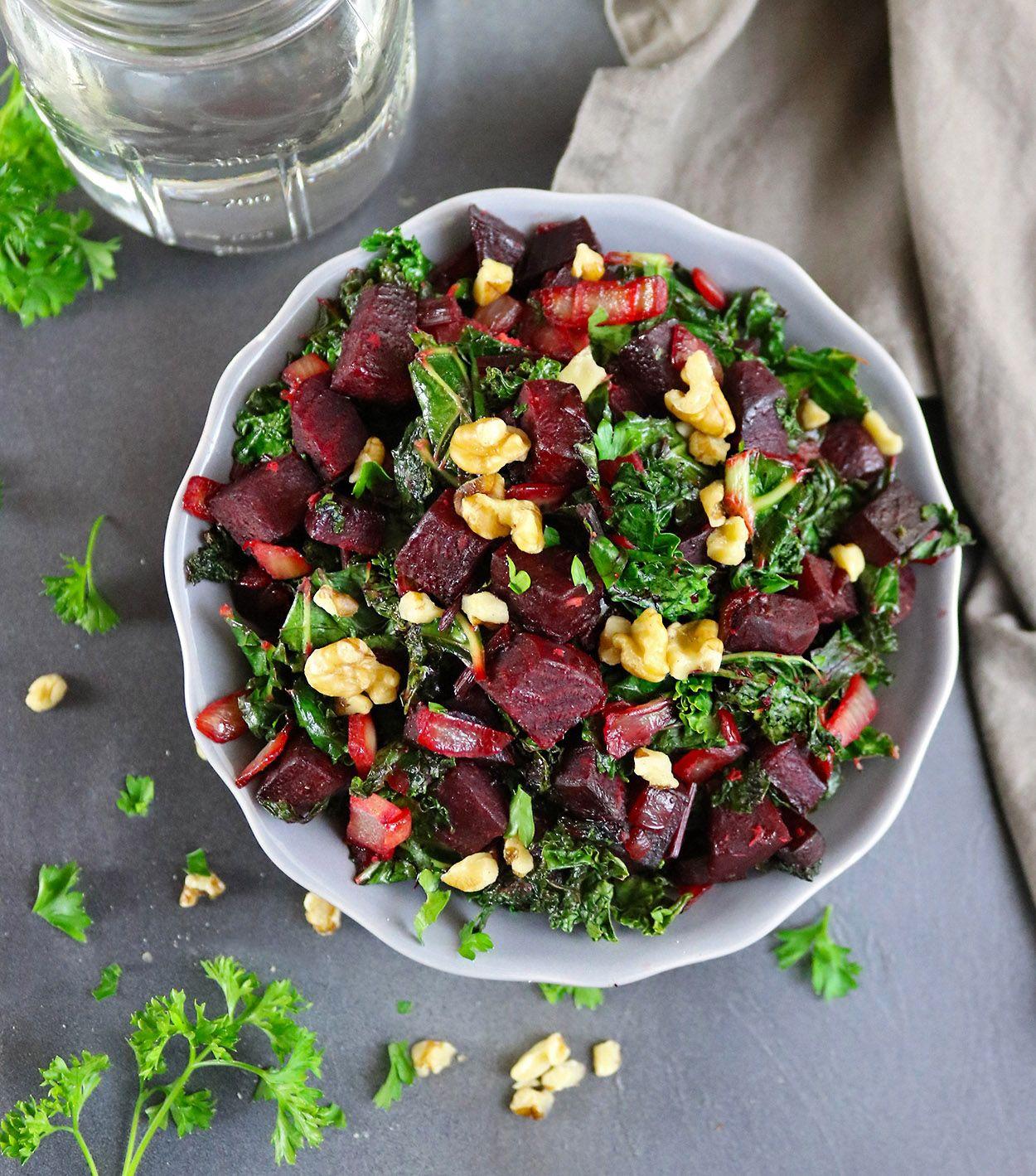 Warm Ginger Beet Kale Salad With Walnuts Recipe Summer Salad