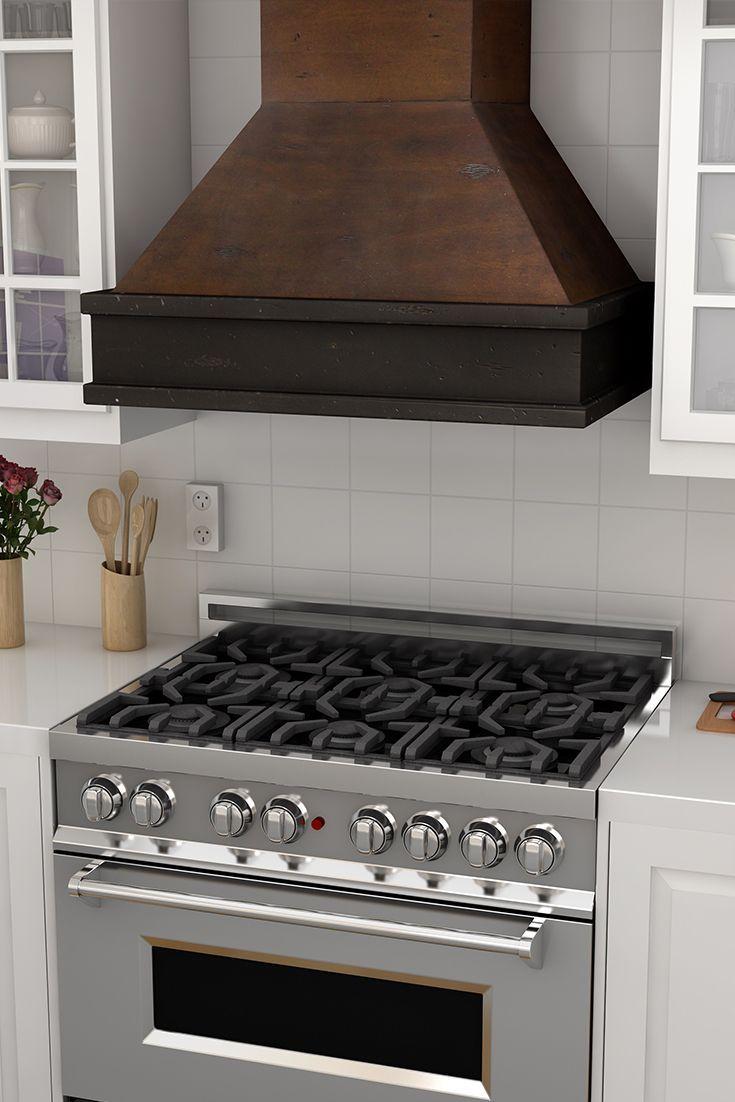 Build Range Hood White Kitchen With Wood Range Hood Home Kitchen Pinterest