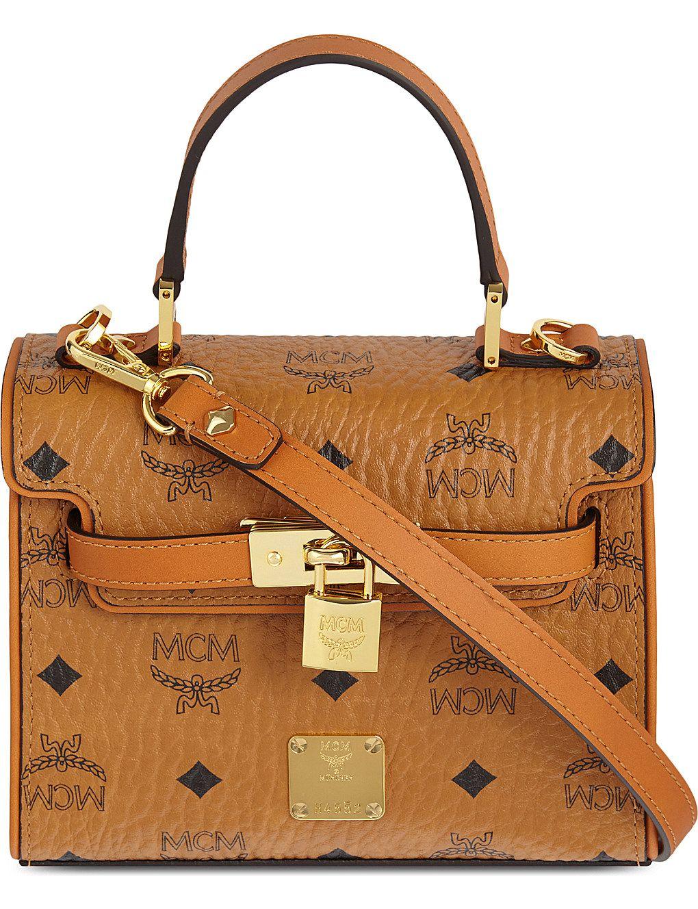 MCM Heritage padlock leather satchel | Leather satchel