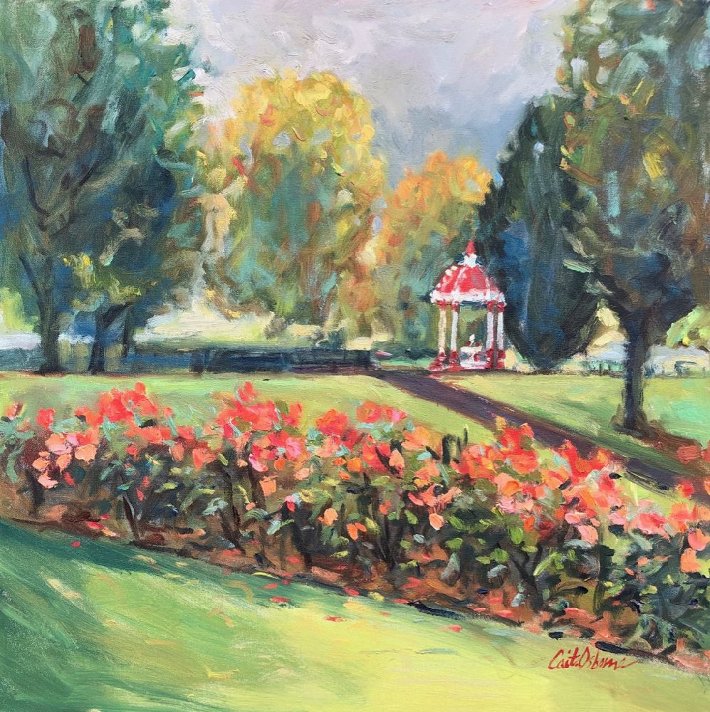 Beginning Of Autumn People S Park Limerick By Caitriona Osborne Artclickireland Com In 2020 Landscape Oil Painting On Canvas Bright Flowers