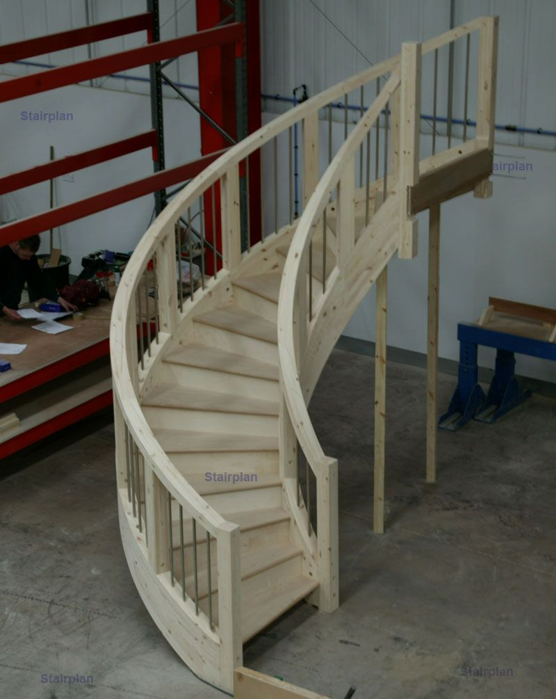 Best Stairplan Curved Stairs White Oak Stainless Steel 400 x 300