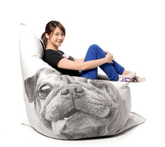 Terrific Bean Bag Pug Design Discontinued While Stocks Last By Machost Co Dining Chair Design Ideas Machostcouk