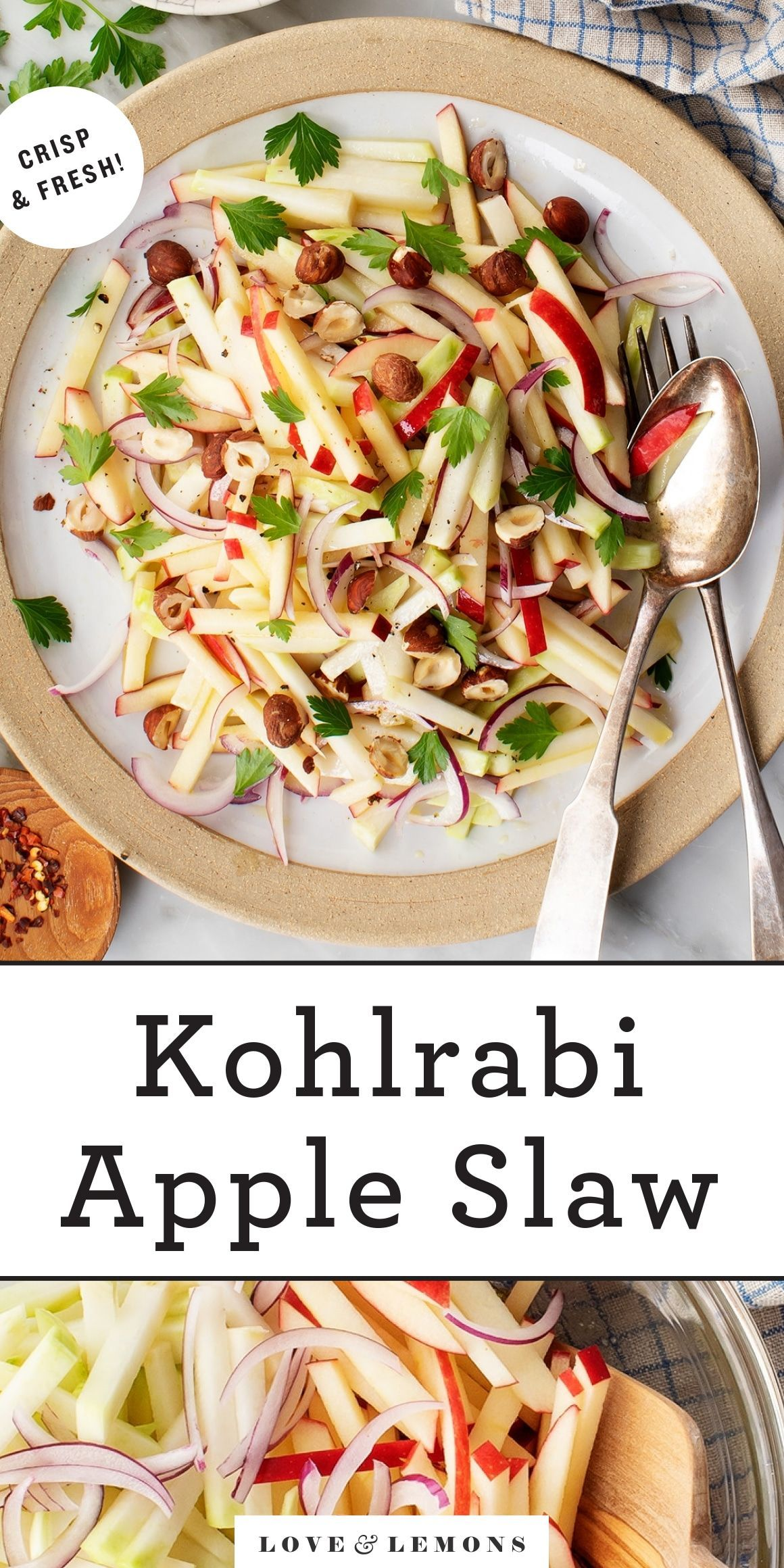 Kohlrabi Slaw Recipe Love And Lemons Recipe Kohlrabi Slaw Slaw Recipes Slaw
