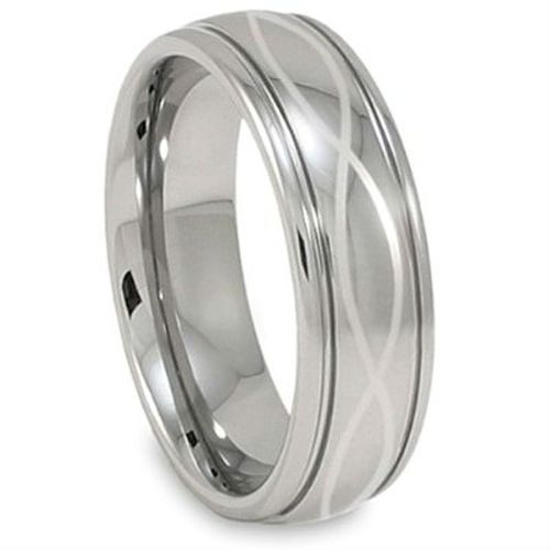 Tailor Made Infinity Knot Laser Engraving Men S Tungsten Ring Size 4 18 Whole Half