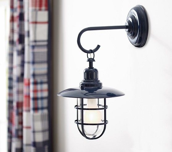 Navy Fisherman Sconce Sconces Kids Ceiling Lights Wall