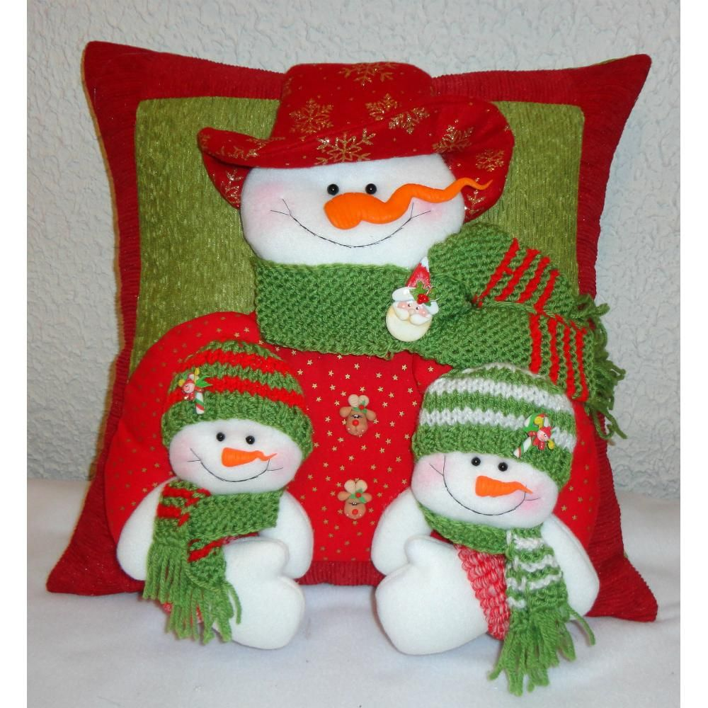 Como Hacer Mu Ecos De Navidad En Tela 13 Cojines Pinterest