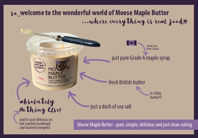 The Wonderful World of Moose Maple Butter (OK we like alliteration!) #realbutter #maplesyrup #butter #realfood #keepitreal #maplebutter #moosemaplebutter #spreadthemoose
