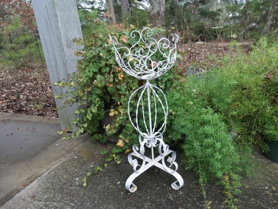 vintage fern stand wrought iron plant stand garden decor wedding decor bridal shower decoration. Black Bedroom Furniture Sets. Home Design Ideas