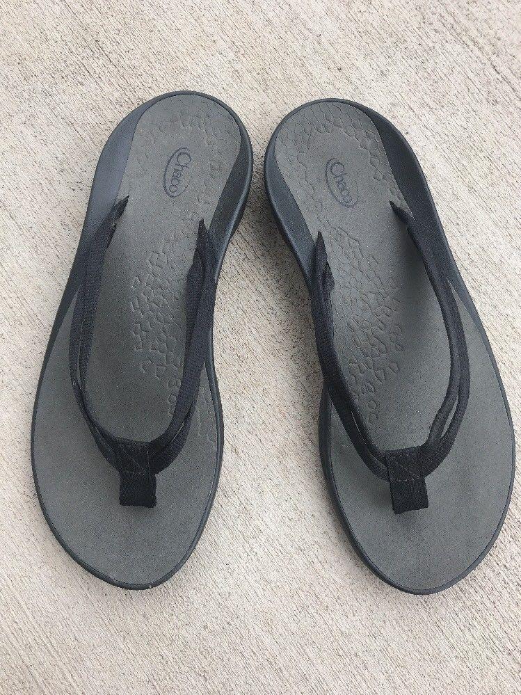 d1781995431b Chaco Women s Flip Flop Sandals 8 Flip X EcoTread 2 Strap Shoes Thongs  Black
