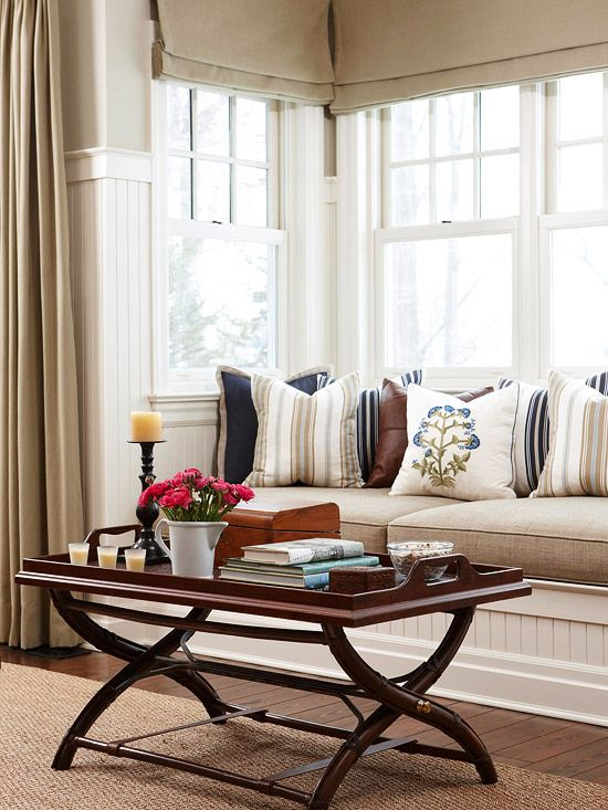 Living Rooms · Add Function To An Awkward Space By Transforming A Basic Bay  Or Box Window Into A