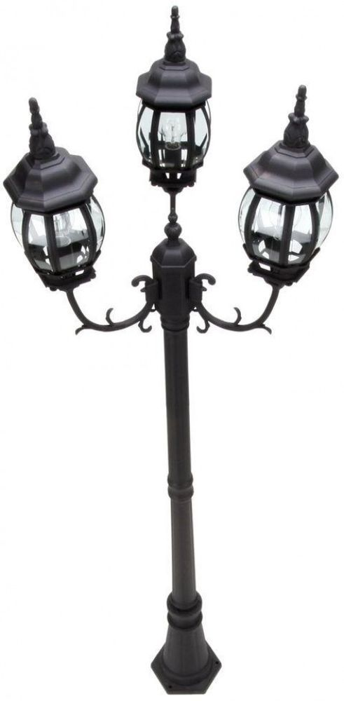 3 Head Black Outdoor Post Light Lamp Driveway Street Lantern Lamppost Lighting Hamptonbay