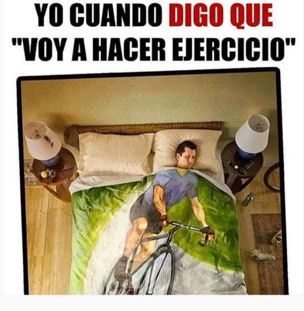 Voy a hacer ejercicio. Cobija. | Chistes and Imagenes Chistosas | Funny memes, Funny jokes, Funny