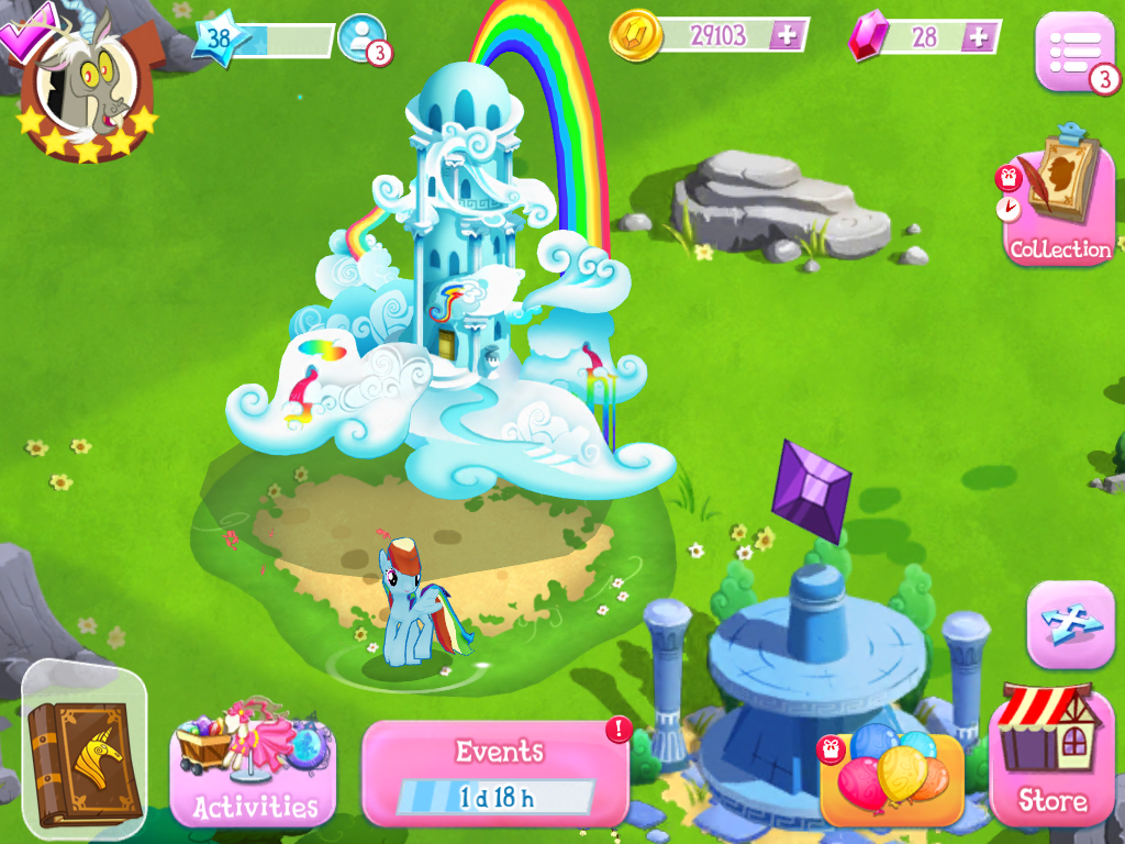 Rainbow Dash S House In Mlp By Gameloft And Hasbro Gaming My