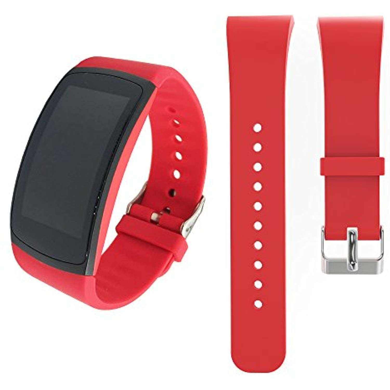 For Samsung Gear Fit2 Fit2 Pro Bands Soft Silicone Sport Bracelet Replacement Band Strap For Samsung Gear Fit2 Sports Bracelet Replacement Straps Band Workout