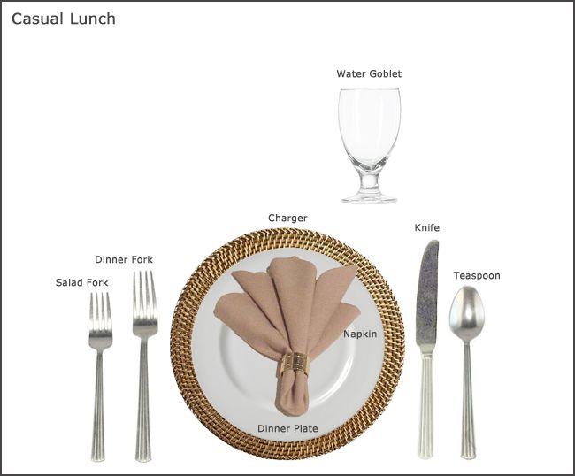 Casual Lunch Table Setting  sc 1 st  Pinterest & Casual Lunch Table Setting | Kitchen \u0026 Dining Essentials | Pinterest ...
