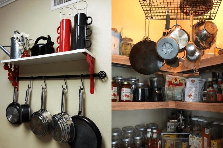 5 hanging pot racks to keep pots & pans within reach ...