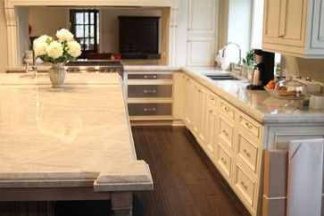 Kitchen Quartzite Mother Pearl Traditional Kitchen Chicago