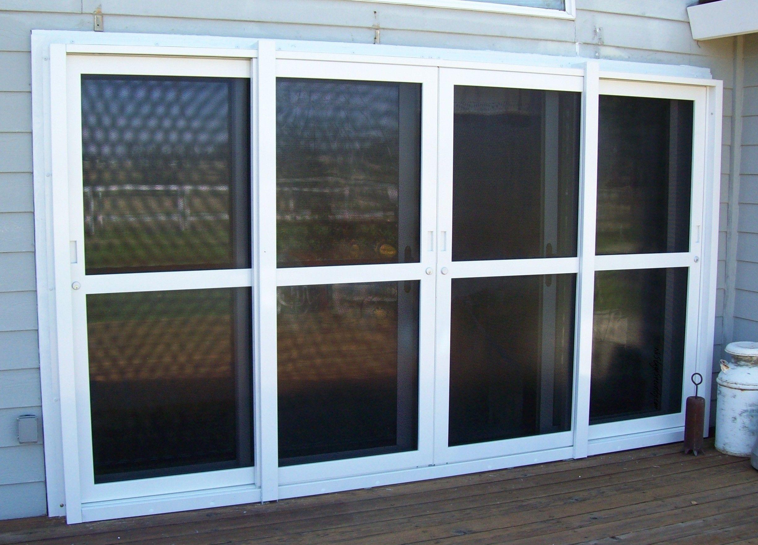 8 foot wide double door sliding security doors by nx stage
