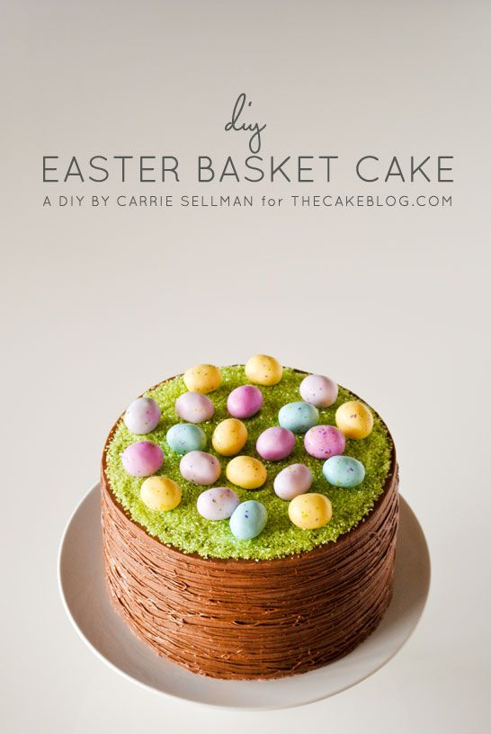 Easter basket cake easter baskets carrie and easter easy easter basket cake a diy by carrie sellman of thecakeblog looks negle Gallery
