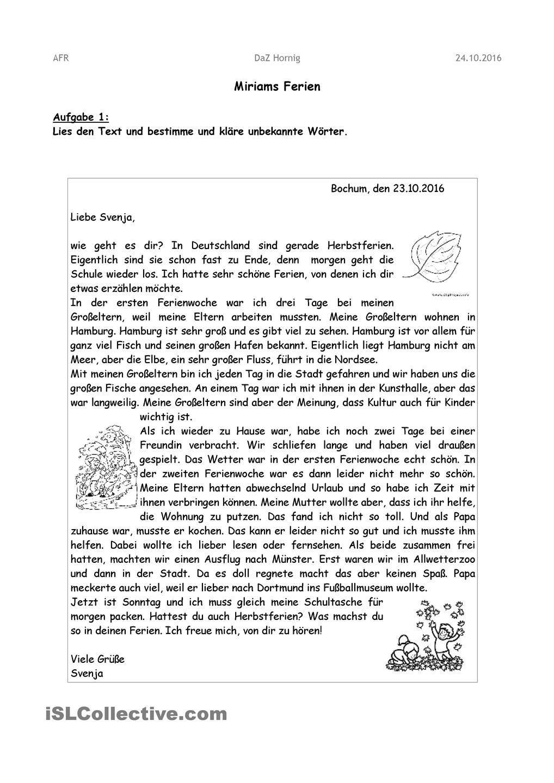 21 Brief Schreiben 5 Klasse Freyajacklin Deutsch Grundschule
