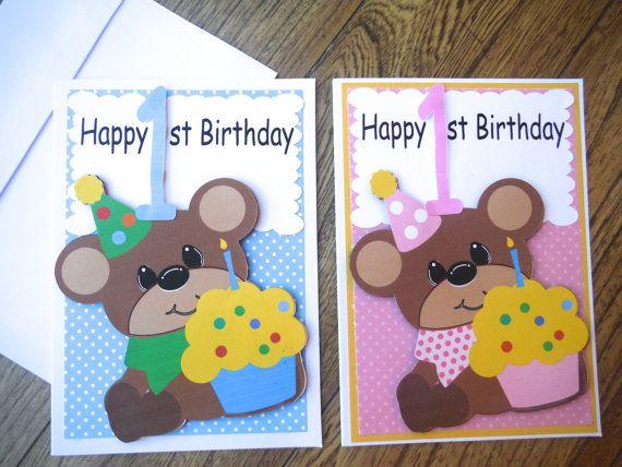 Babys First Birthday Happy 1st Birthday Boy By Chrissydscrafts