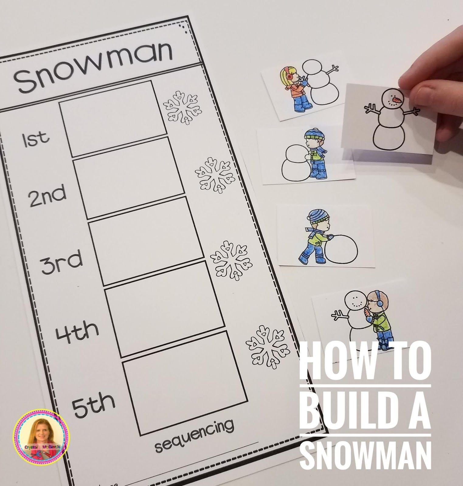 How To Build A Snowman Sequencing Activities