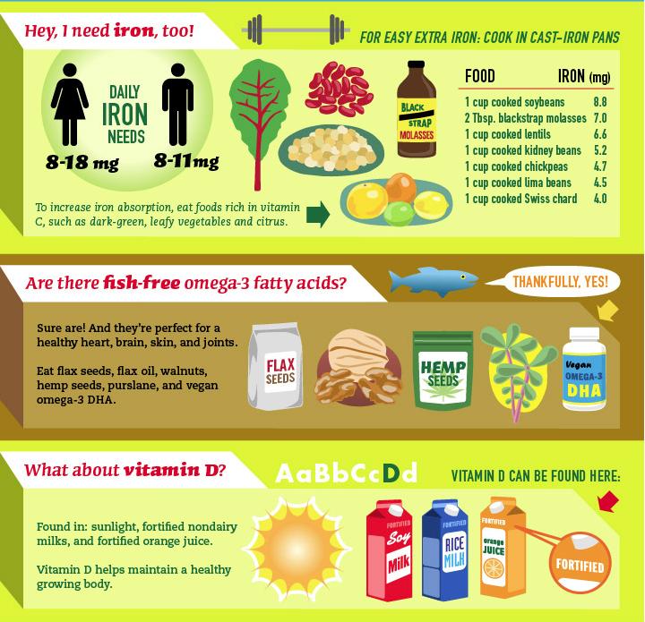 nonanimal sources of iron, calcium and vitamin D Vegan