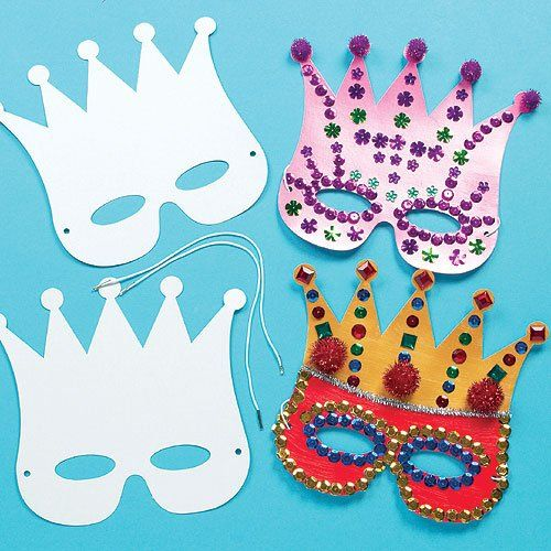 Card Masks To Decorate Strong Card Crown Mask For Children To Design And Decorate For