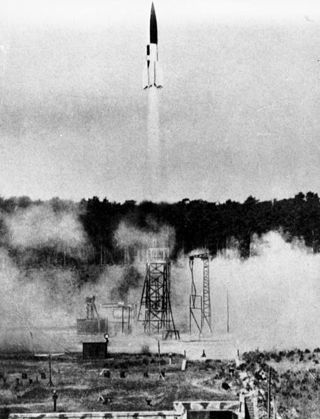 V2 Rocket seconds after it took off from test-site VII – Summer of 1943